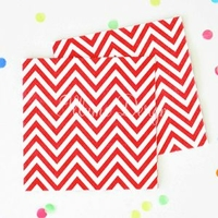 20 serviettes cocktail chevron