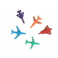 5 figurines avions en plastique