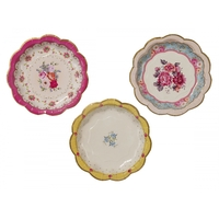 assiettes carton porcelaine vintage
