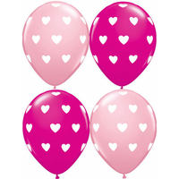 25 ballons motifs coeœur latex