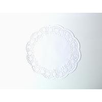 Napperon dentelle rond en papier blanc