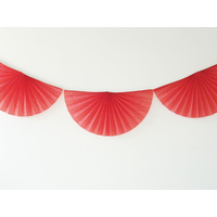 Guirlande rosace papier