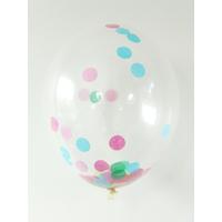 8 ballons remplis de confettis