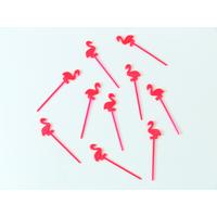 Pics décoratifs flamant rose plastique