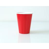 8 gobelets carton uni rouge