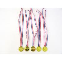 5 colliers médailles de champion