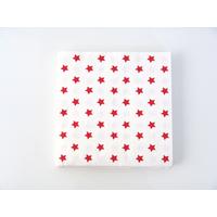 20 serviettes jetables étoiles rouge