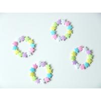 12 bracelets plastique en forme d'étoiles