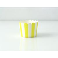 Caissettes cupcakes rigides à rayures