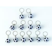 12 porte-clés ballon de foot