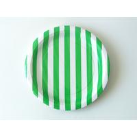 8 assiettes carton dessert à rayures