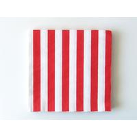 16 serviettes jetables papier rayé