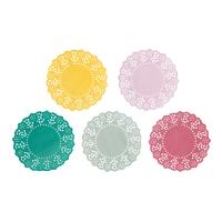 100 Mini napperons papier dentelle couleur