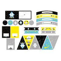 Printable anniversaire Espace
