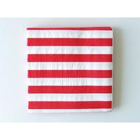 20 serviettes jetables rayures