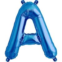 Ballon en forme de lettres A à Z bleu - 40 cm