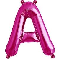Ballon aluminium lettres A à Z rose - 40 cm