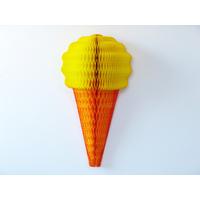 Décoration alvéolée papier cornet de glace
