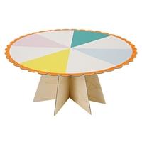Cake stand cartonné coloré