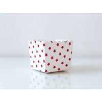 6 boites bonbons blanches étoiles rouges