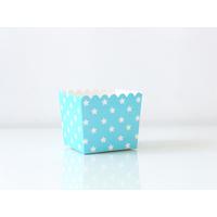 6 boites bonbons étoiles - bleu clair