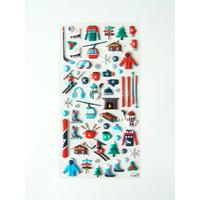 50 Stickers ski