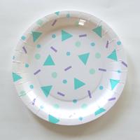 12 assiettes carton Confetti Pop