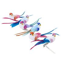 6 Figurines oiseaux tropicaux