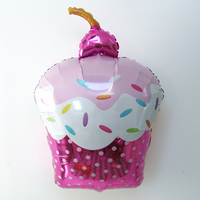 Ballon mylar cupcake