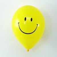 6 ballons de baudruche jaune smiley