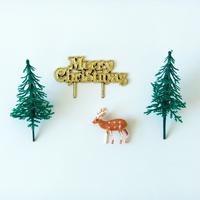 Décoration buche de Noel kit forêt