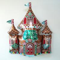 Ballon maison pain d'épices aluminium