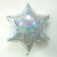Ballon mylar flocon de neige