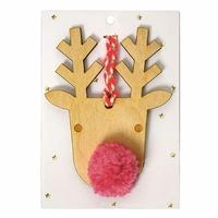 Renne en bois pour sapin de Noel