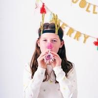 8 Headbands bois de renne glitter