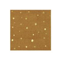 Petites serviettes jetables kraft étoiles
