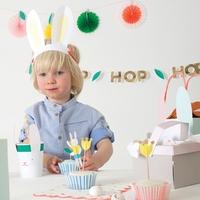 Kit 24 caissettes cupcake et toppers lapin de Pâques