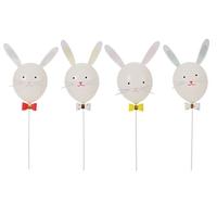 Kit 4 ballons lapin Pâques