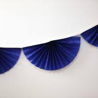 Guirlande rosace papier bleu roi