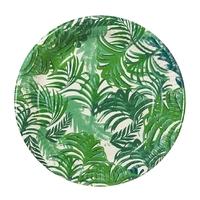 12 assiettes carton palmier