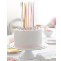 16 longues bougies d'anniversaire rose