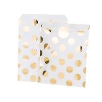 8 pochettes pois doré