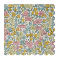 20 serviettes jetables Liberty Poppy & Daisy