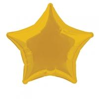 Ballon aluminium étoile dorée