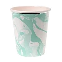 8 gobelets carton marbre Mint