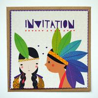 8 cartes d'invitation anniversaire indien