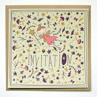 8 cartes d'invitation anniversaire fée