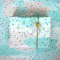 5 feuilles de papier cadeau pastel confettis