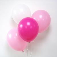 12 ballons de baudruche assortiment rose