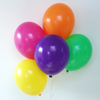 12 ballons de baudruche assortiment multicolore